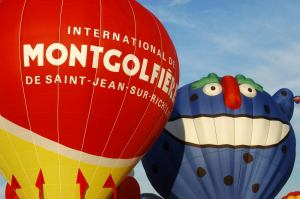 L'International des Montgolfières de St-Jean-sur -le-Richelieu, du 9 au 17 août 2014.