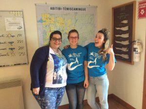 Avec des gentilles préposées du bureau de l'Office de tourisme de Val-d'Or. Photo tirée de leur comte Facebook