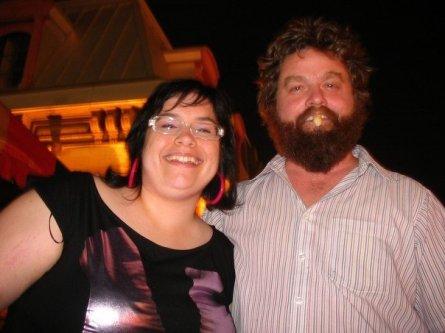 Une photo souvenir de Zach Galifianakis et moi, qui date de 2007.